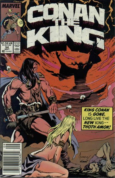 Cover for Conan the King (Marvel, 1984 series) #54 [Direct Edition]
