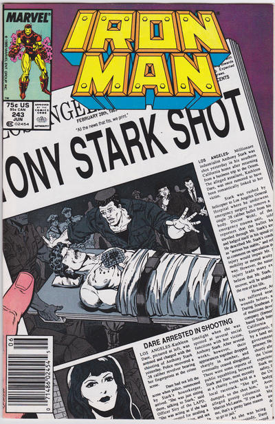 Cover for Iron Man (Marvel, 1968 series) #243 [Direct]