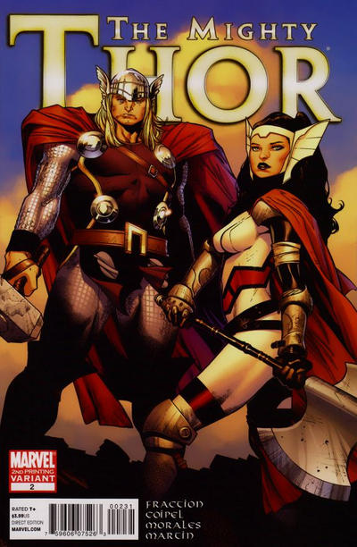 Cover for The Mighty Thor (Marvel, 2011 series) #2 [Second Printing]