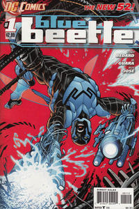 Cover Thumbnail for Blue Beetle (DC, 2011 series) #1 [2nd Printing - Red Background]