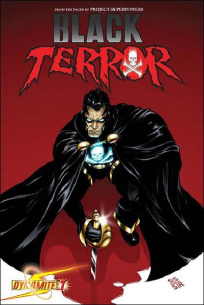 Cover for Black Terror (Dynamite Entertainment, 2008 series) #7 [Negative Art Incentive Cover]