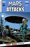 Cover for Mars Attacks: First Born (IDW, 2014 series) #1 [Subscription cover]