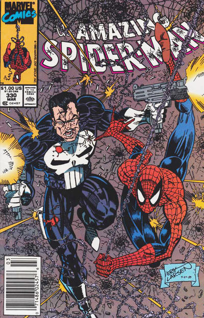 Cover for The Amazing Spider-Man (Marvel, 1963 series) #330 [Newsstand Edition]