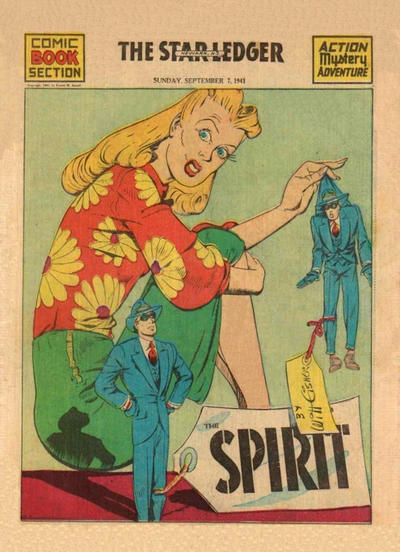 Cover for The Spirit (Register and Tribune Syndicate, 1940 series) #9/7/1941