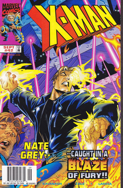 Cover for X-Man (Marvel, 1995 series) #42 [Direct Edition]