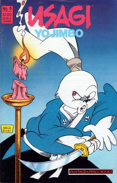Cover for Usagi Yojimbo (Fantagraphics, 1987 series) #9