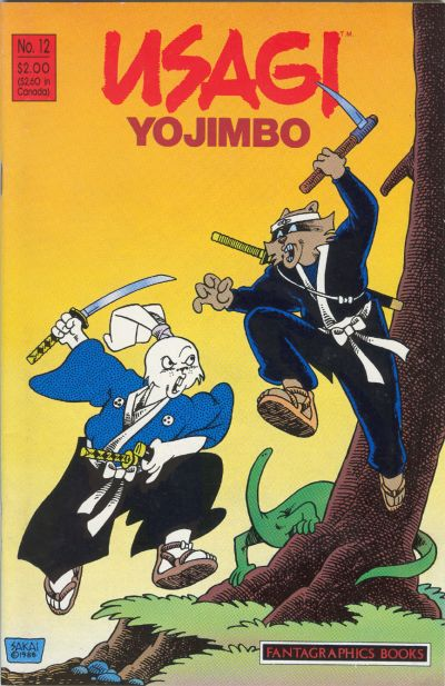 Cover for Usagi Yojimbo (Fantagraphics, 1987 series) #12