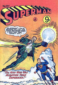 Cover Thumbnail for Superman (K. G. Murray, 1947 series) #107