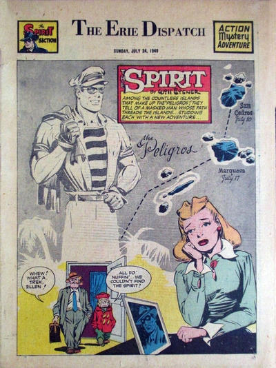 Cover for The Spirit (Register and Tribune Syndicate, 1940 series) #7/24/1949