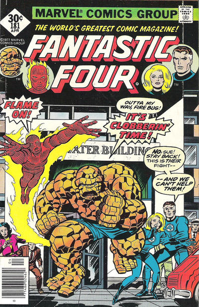 Cover for Fantastic Four (Marvel, 1961 series) #181 [Regular Edition]