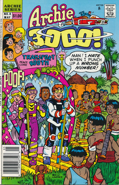 Cover for Archie 3000 (Archie, 1989 series) #8 [Direct Edition]