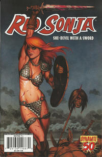 Cover Thumbnail for Red Sonja (Dynamite Entertainment, 2005 series) #50 [Joseph Michael Linsner Cover]