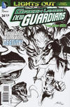 Cover for Green Lantern: New Guardians (DC, 2011 series) #24 [Rafael Albuquerque Black & White Cover]