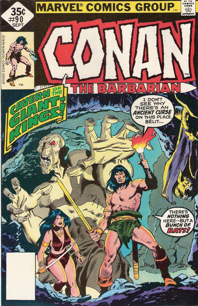 Cover for Conan the Barbarian (Marvel, 1970 series) #90 [Regular Edition]