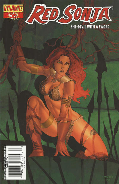 Cover for Red Sonja (Dynamite Entertainment, 2005 series) #36 [Cover A]