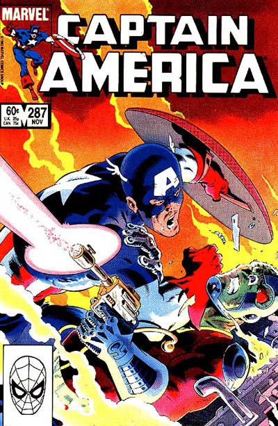 Cover for Captain America (Marvel, 1968 series) #287 [Direct Edition]