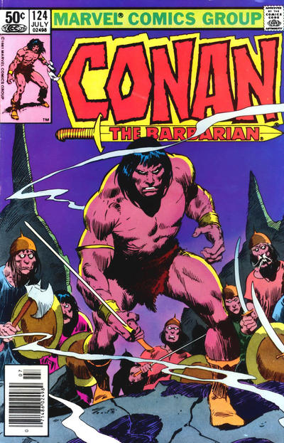 Cover for Conan the Barbarian (Marvel, 1970 series) #124