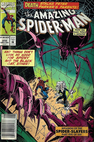 Cover for The Amazing Spider-Man (Marvel, 1963 series) #372 [Newsstand Edition]