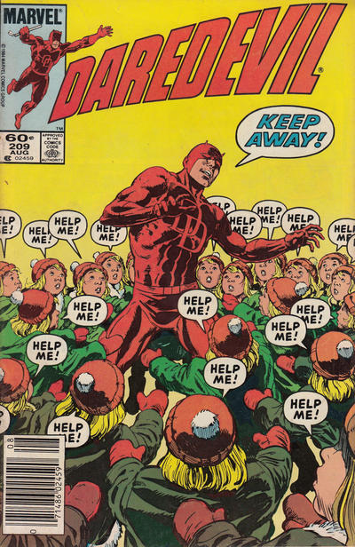 Cover for Daredevil (Marvel, 1964 series) #209 [Direct Edition]