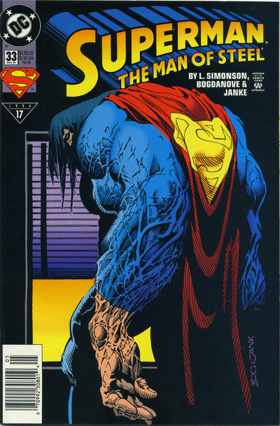 Cover for Superman: The Man of Steel (DC, 1991 series) #33