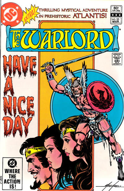Cover for Warlord (DC, 1976 series) #55 [Direct Edition]