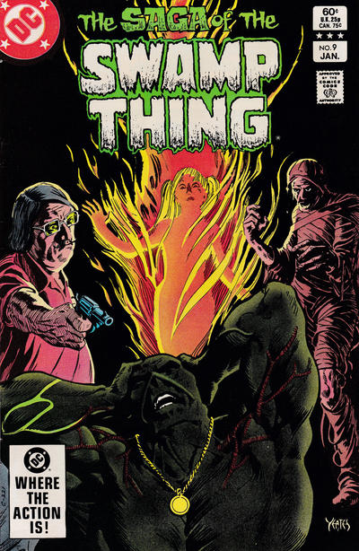 Cover for The Saga of Swamp Thing (DC, 1982 series) #9 [Newsstand]