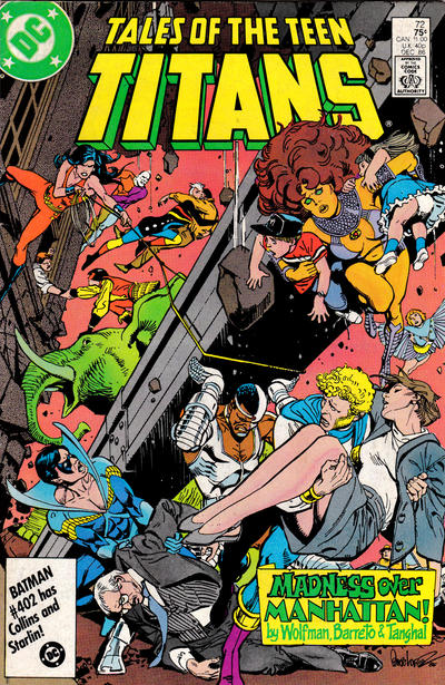 Cover for Tales of the Teen Titans (DC, 1984 series) #72