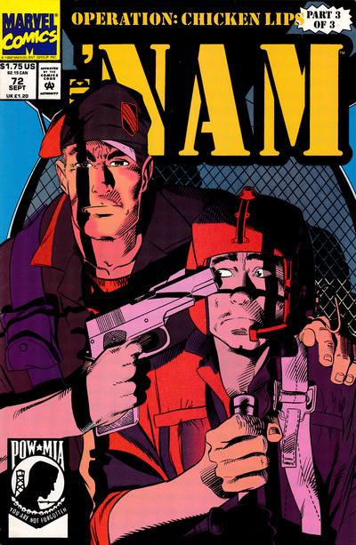 Cover for The 'Nam (Marvel, 1986 series) #72