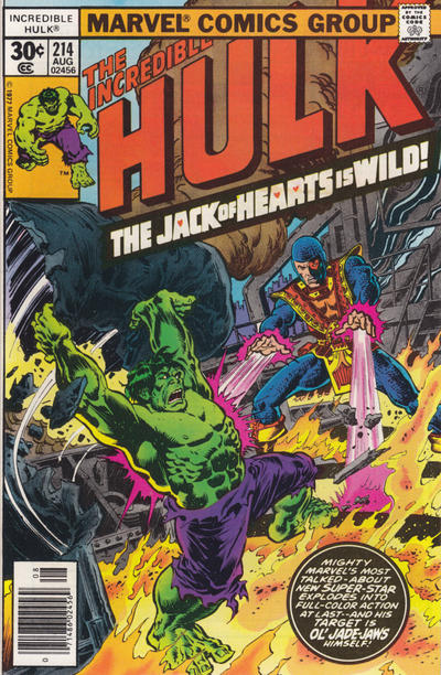 GCD Cover The Incredible Hulk 214