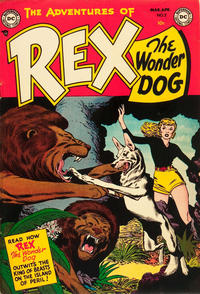 Cover Thumbnail for The Adventures of Rex the Wonder Dog (DC, 1952 series) #2
