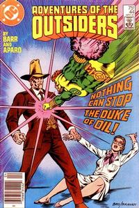 Cover Thumbnail for Adventures of the Outsiders (DC, 1986 series) #44 [Newsstand]