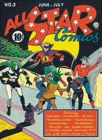Cover Thumbnail for All-Star Comics (DC, 1940 series) #5