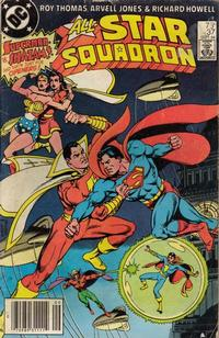 Cover Thumbnail for All-Star Squadron (DC, 1981 series) #37 [Newsstand]