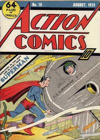 Cover Thumbnail for Action Comics (DC, 1938 series) #15