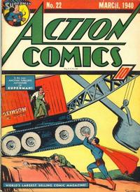 Cover Thumbnail for Action Comics (DC, 1938 series) #22