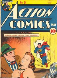 Cover Thumbnail for Action Comics (DC, 1938 series) #24