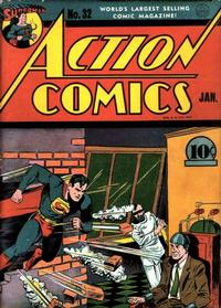 Cover Thumbnail for Action Comics (DC, 1938 series) #32 [Without Canadian Price]