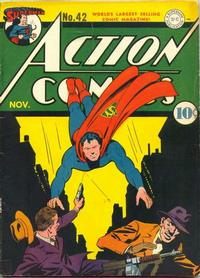 Cover Thumbnail for Action Comics (DC, 1938 series) #42