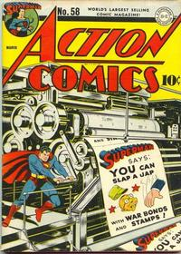 Cover Thumbnail for Action Comics (DC, 1938 series) #58