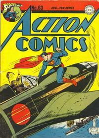 Cover Thumbnail for Action Comics (DC, 1938 series) #63