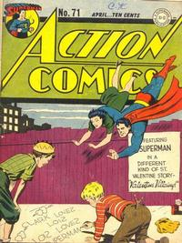 Cover Thumbnail for Action Comics (DC, 1938 series) #71