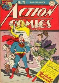 Cover Thumbnail for Action Comics (DC, 1938 series) #78