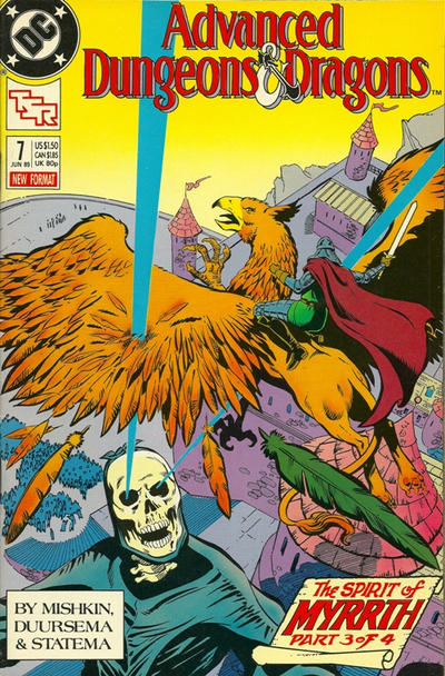 Cover for Advanced Dungeons & Dragons Comic Book (DC, 1988 series) #7