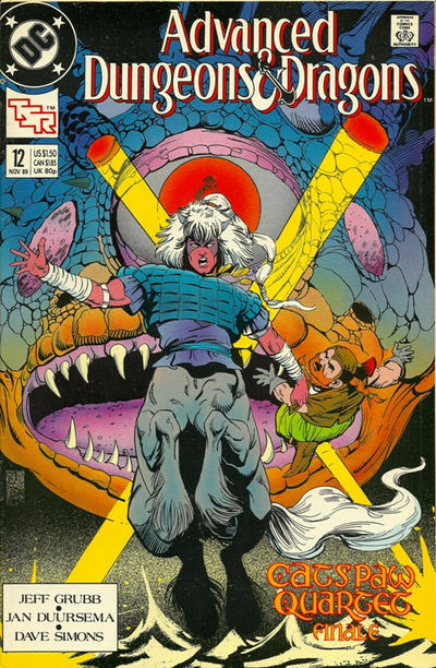 Cover for Advanced Dungeons & Dragons Comic Book (DC, 1988 series) #12 [Direct]