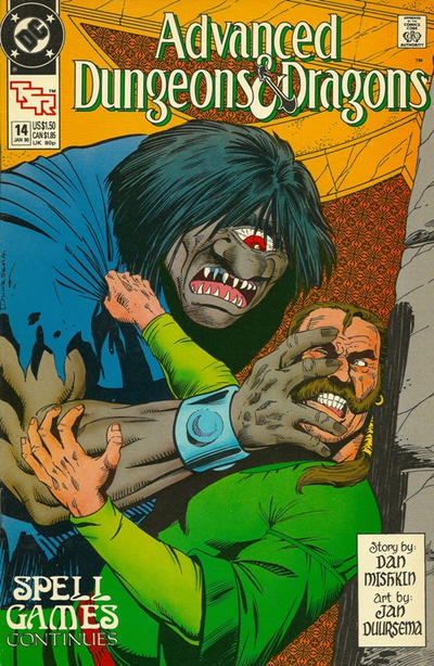 Cover for Advanced Dungeons & Dragons Comic Book (DC, 1988 series) #14 [Newsstand]