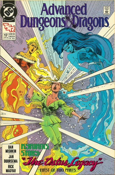 Cover for Advanced Dungeons & Dragons Comic Book (DC, 1988 series) #17