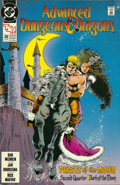 Cover for Advanced Dungeons & Dragons Comic Book (DC, 1988 series) #20