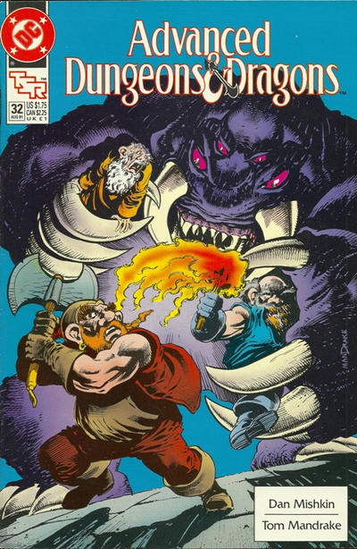 Cover for Advanced Dungeons & Dragons Comic Book (DC, 1988 series) #32