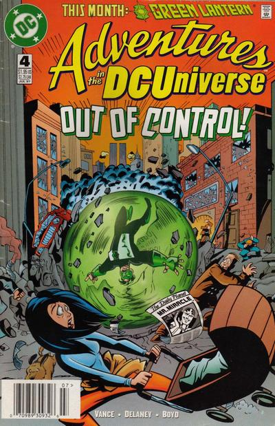 Cover for Adventures in the DC Universe (DC, 1997 series) #4 [Direct]