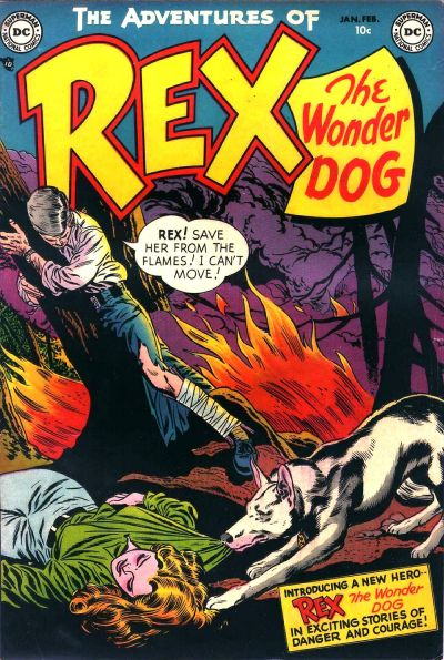 Cover for The Adventures of Rex the Wonder Dog (DC, 1952 series) #1